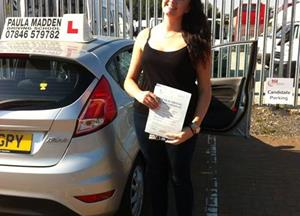 Huge congratulations to Natalie Cunningham who passed today on her 1st test with 6 minor faults.